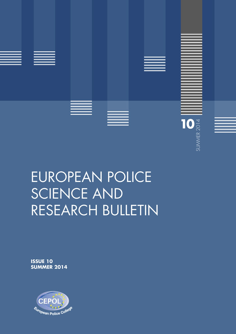Cubierta de European Police Science and Research Bulletin
